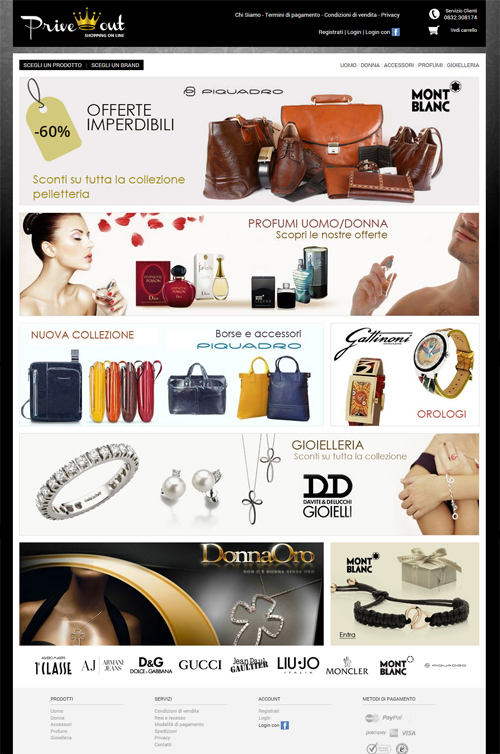 priveout - outlet on Line accessori, profumi, gioi